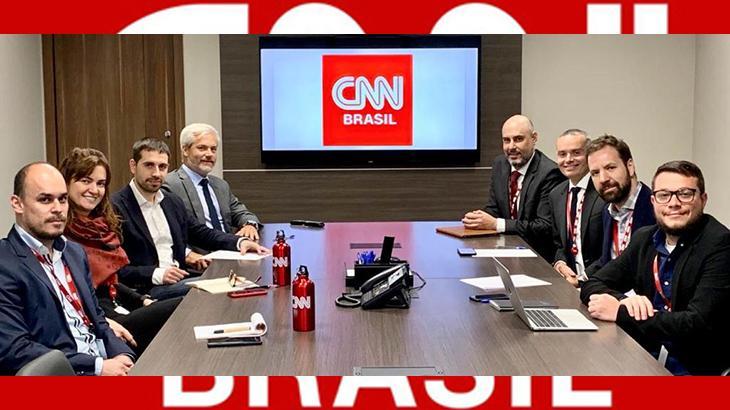 Executivos da CNN reunidos