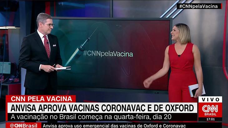 CNN Brasil ultrapassa GloboNews no Ibope com cobertura de aprovação das vacinas