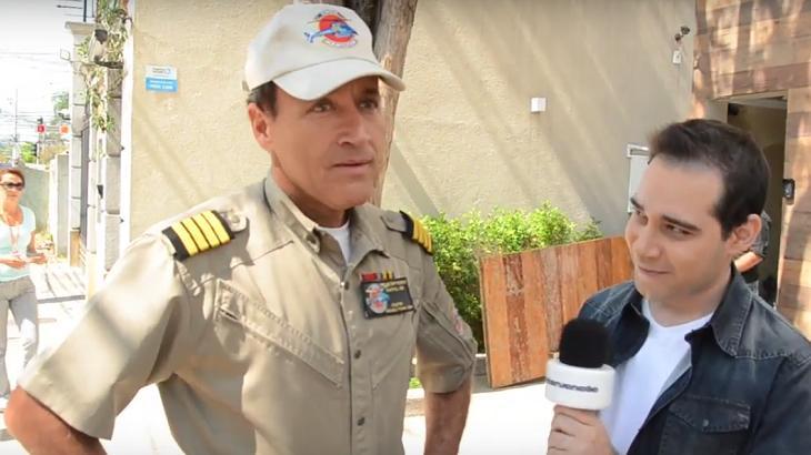 Comandante Hamilton e Roger Turchetti