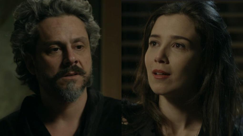 Alexandre Nero e Marjorie Estiano em cena da novela Império, em reprise na Globo