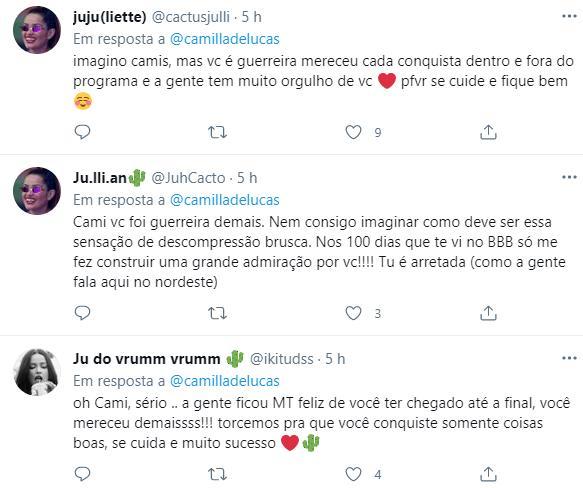 """Camilla de Lucas revela crise de ansiedade após BBB21: \""""Tomei duas injeções\"""""""