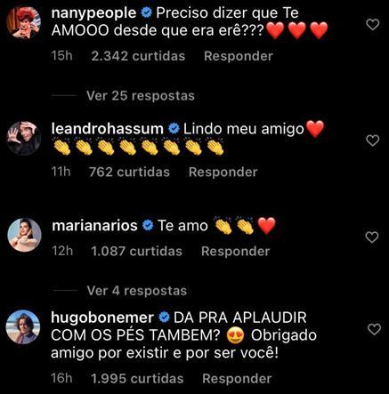 Famosos apoiam Tiago Abravanel após ator rebater falas homofóbicas da tia Patrícia