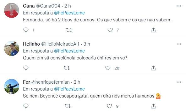 "Fernanda Paes Leme faz piada com Bolsonaro e repercute: \""Corno\"""