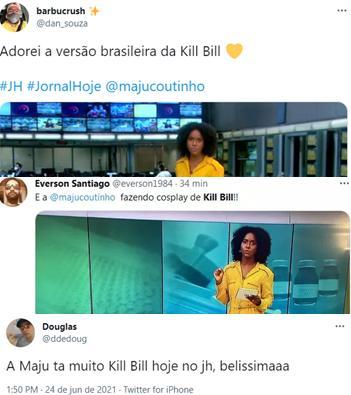 Maju Coutinho é comparada com personagem de filme por look no Jornal Hoje
