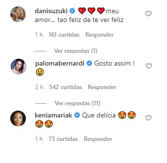 """Paolla Oliveira e Diogo Nogueira aparecem em momento íntimo: \""""Entrelaçados\"""""""