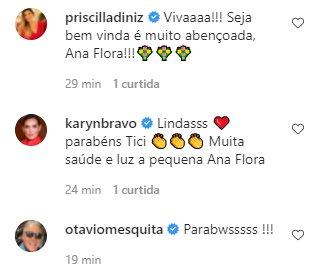 """Ticiana Villas Boas dá à luz terceiro filho: \""""Princesinha da família\"""""""