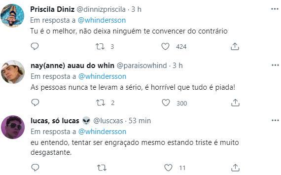 """Whindersson Nunes desabafa sobre carreira: \""""Muito triste\"""""""
