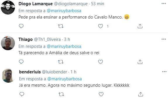 Joelma fica ruiva e Marina Ruy Barbosa reage