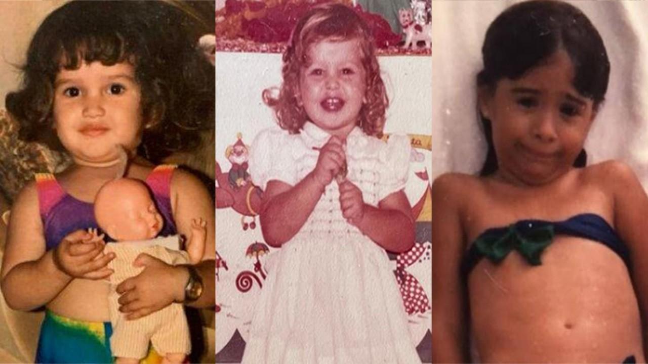 Juliette, Fernanda Rodrigues e Tatá Werneck crianças