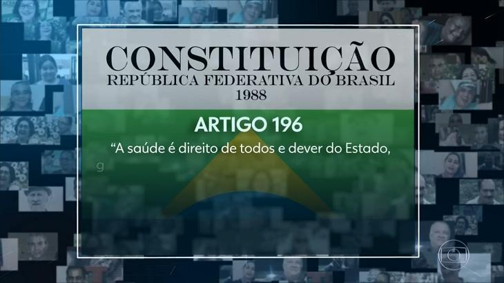 Jornal Nacional cita a Constituição e critica Bolsonaro no dia das 100 mil mortes por Covid-19