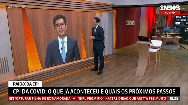 César Tralli no estúdio da GloboNews