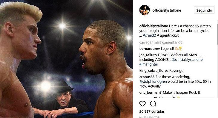 """Personagem de \""""Rock IV\"""", Ivan Drago pode retornar em \""""Creed 2\"""""""