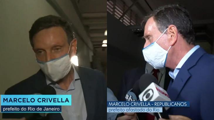 Marcelo Crivella no Jornal da Record e no Jornal Nacional