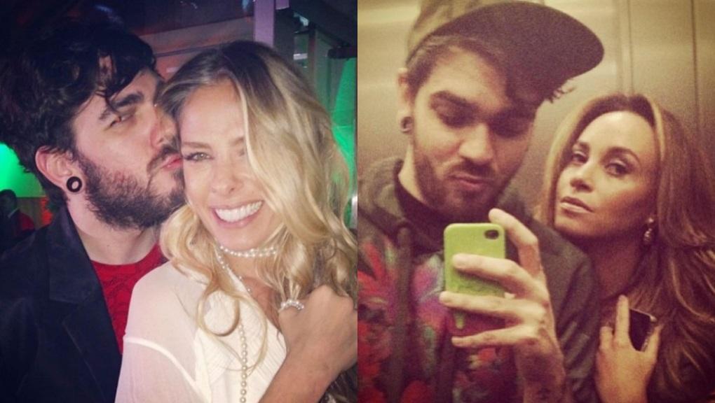Daniel Carvalho, criador da Katylene, posa ao lado das amigas Adriane Galisteu e Suzana Pires