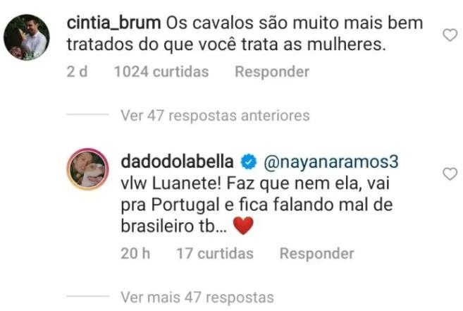 """Dado Dolabella alfineta Piovani: \""""Vai pra Portugal e fala mal de brasileiro\"""""""