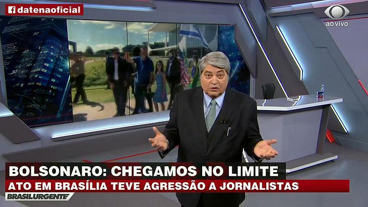 Datena critica Bolsonaro