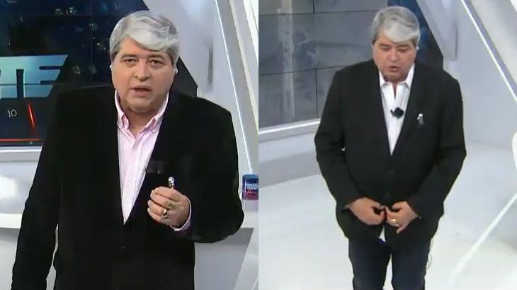José Luiz Datena troca de roupa no Brasil Urgente