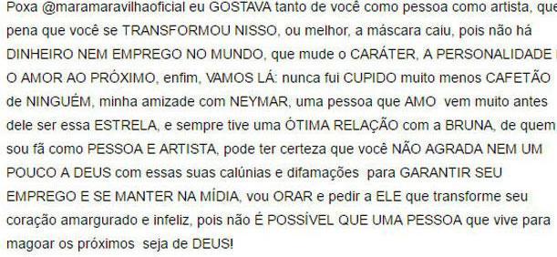 """David Brazil detona Mara Maravilha, apaga post e diz: \""""Aqui só pessoas do bem\"""""""