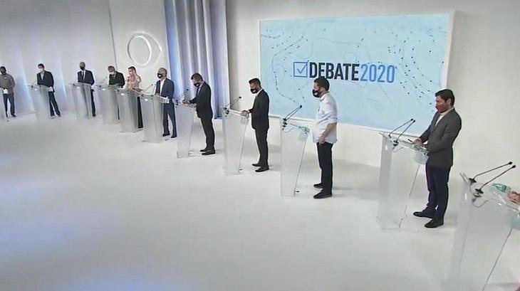 Candidatos a prefeito de São Paulo no debate da Band