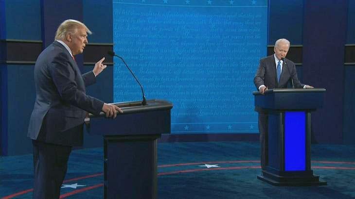 Trump e Biden em debate nos Estados Unidos