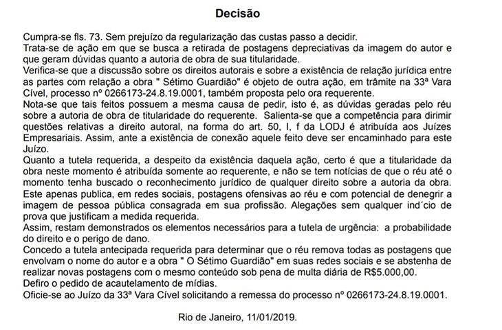 """Cerceau vai recorrer de liminar e culpa Aguinaldo Silva por \""""fracasso\"""" de novela: \""""sinto dó\"""""""