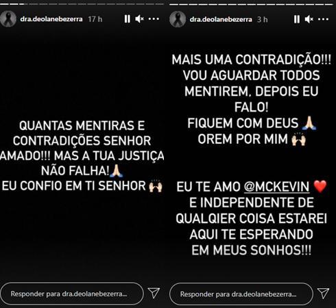"""Viúva de MC Kevin crítica amigos do funkeiro em velório: \""""Gente sanguessuga\"""""""