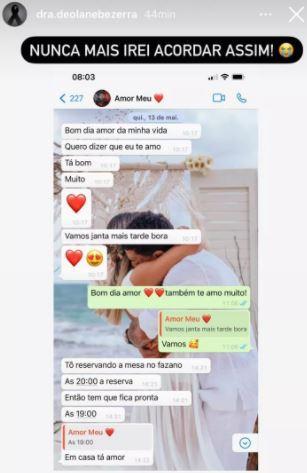 Viúva mostra mensagens trocadas com MC Kevin três dias antes dele morrer