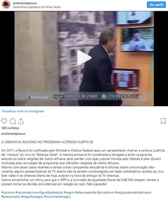"""Apresentador de afiliada do SBT é acusado de racismo: \""""Se fosse bom, seria Montebranco\"""""""