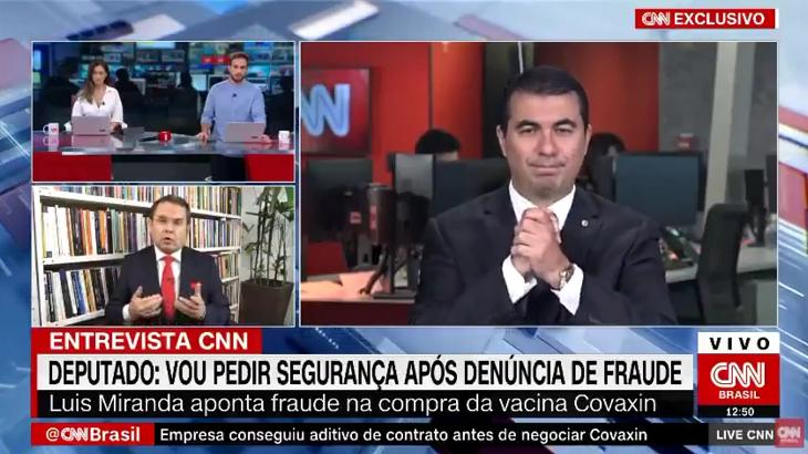 Deputado Luis Miranda na CNN Brasil
