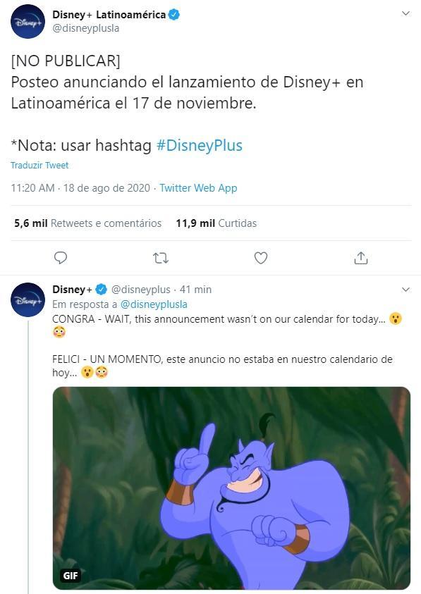 Disney+ anuncia data exata de lançamento no Brasil