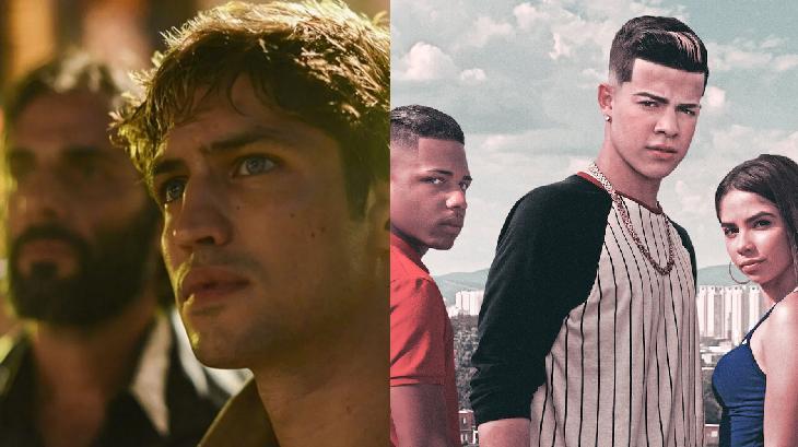 Tela dividida com cena de Dom, da Prime Vídeo, e Sintonia, da Netflix