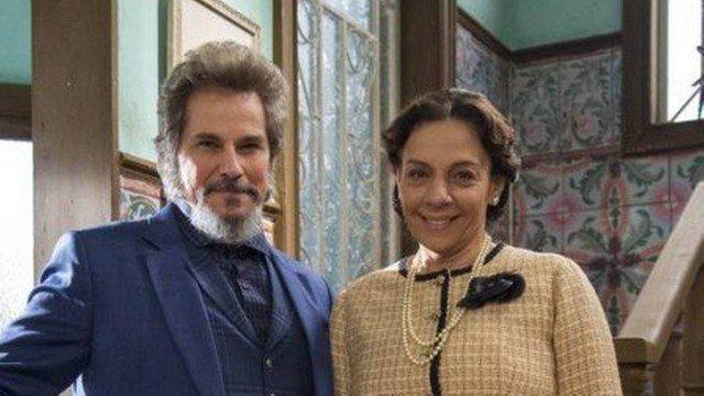 Os atores Edson Celulari e Rosi Campos
