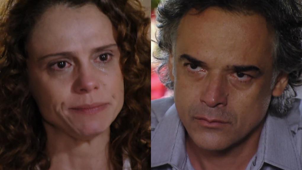 Malu Galli e Ângelo Antônio em cena da novela A Vida da Gente, em reprise na Globo