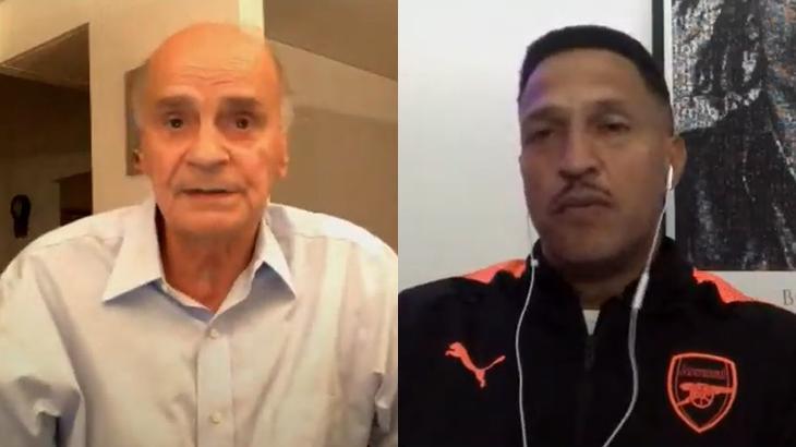 Drauzio Varella e Mano Brown durante live