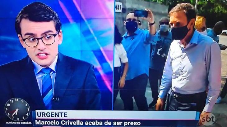 Dudu Camargo e Marcelo Crivella no Primeiro Impacto