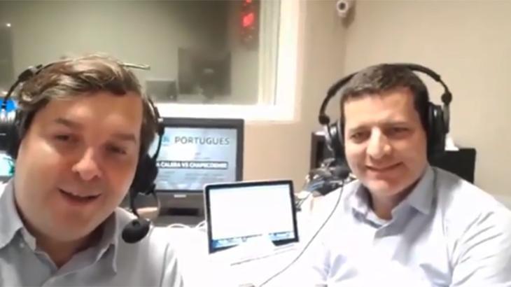 Dudu Monsanto e Andrei Kampff no estúdio da DAZN