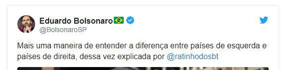 """Ratinho \""""ensina\"""" sobre direita e esquerda e é elogiado por filho de Bolsonaro"""