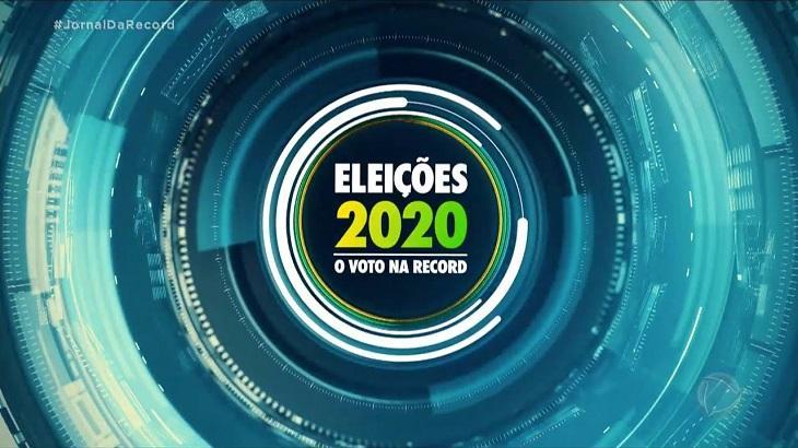 Logotipo da cobertura das eleições 2020 da Record