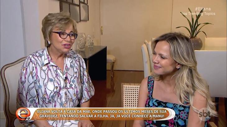 Em volta à TV, Eliana apresenta Manuela e diz que experiência mudou sua forma de ver a vida