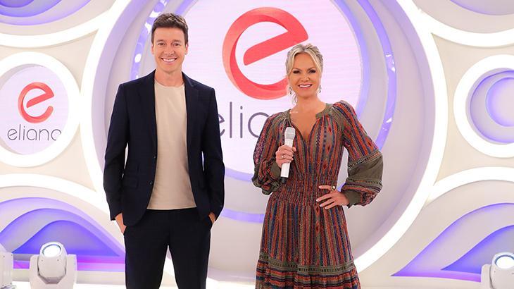 Eliana e Rodrigo Faro sorridentes