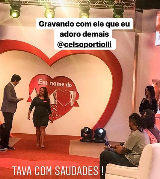 """Celso Portiolli apresenta \""""Em Nome do Amor\"""" em ação comercial vendida pelo SBT"""