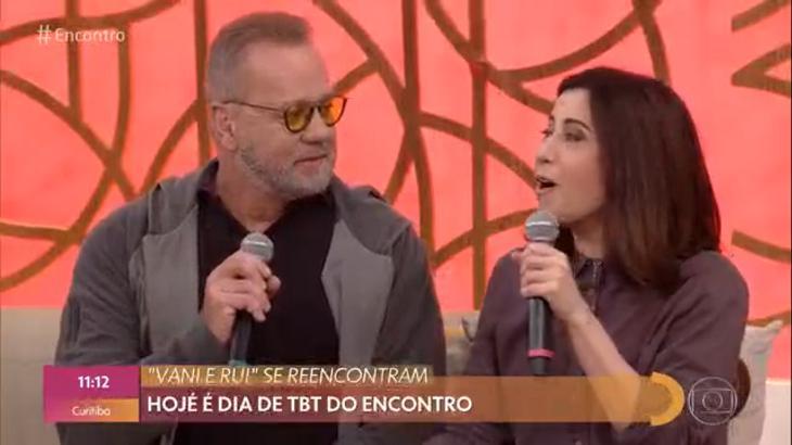 """Fernanda Torres e Luiz Fernando Guimarães no """"Encontro"""""""