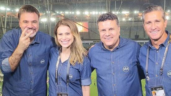 """Repórter na final da Libertadores no SBT analisa feito e confessa: \""""Desabei a chorar\"""""""