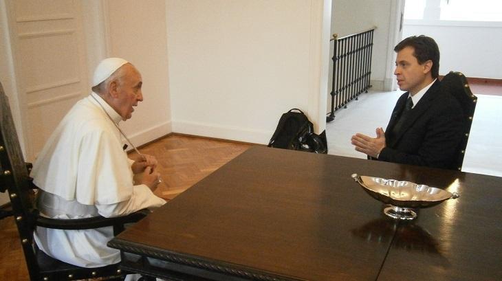 Papa Francisco em entrevista na GloboNews
