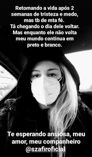 """Esposa de Luciano Szafir desabafa sobre internação do marido por Covid-19: \""""Medo\"""""""