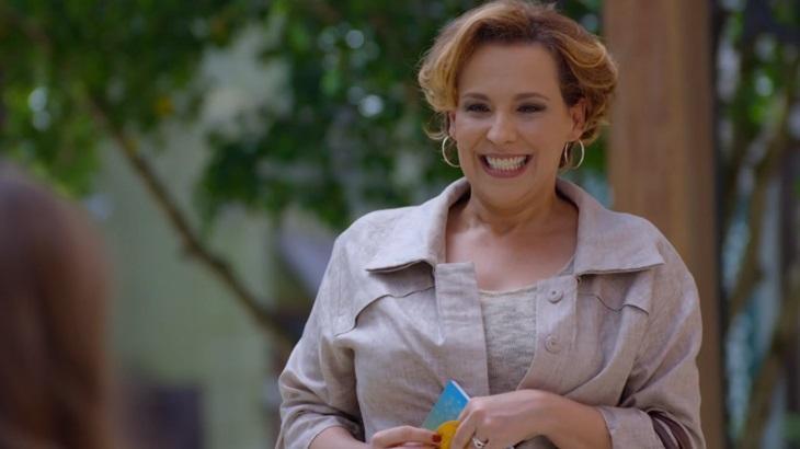Ana Beatriz Nogueira como Eva em cena da novela A Vida da Gente, em reprise na Globo