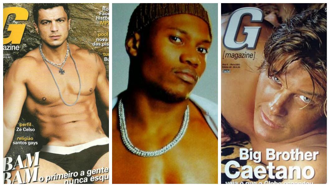Bambam, Alan e Caetano nas capas da G Magazine