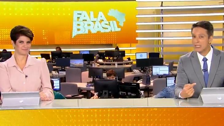 Mariana Godoy e Sérgio Aguiar no Fala Brasil
