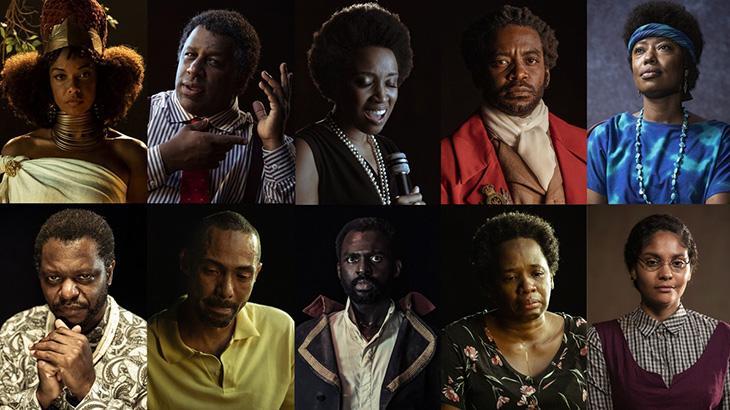 Personagens do especial Falas Negras