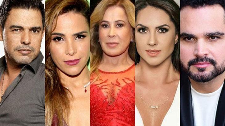 Zezé Di Camargo, Wanessa Camargo, Zilu, Graciele Lacerda e Luciano
